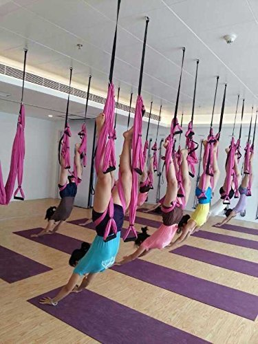 Lovess High Quality Deluxe Aerial Yoga HammockLarge