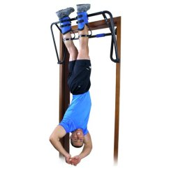 Hanging Upside Down Chair For Back Navy Blue Sashes Teeter Hang Ups Ez Up Inversion And Chin System With Rack