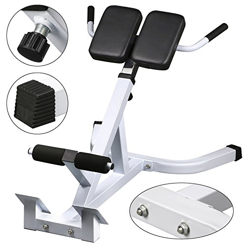 commercial gym roman chair retro office yaheetech 45 degree hyperextension back exercise bench
