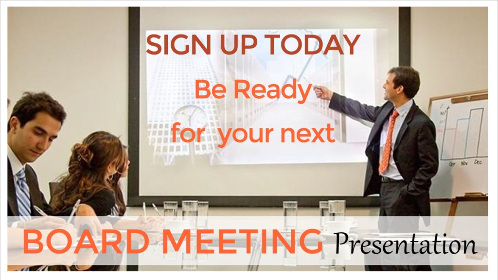 How to present in Board Meeting