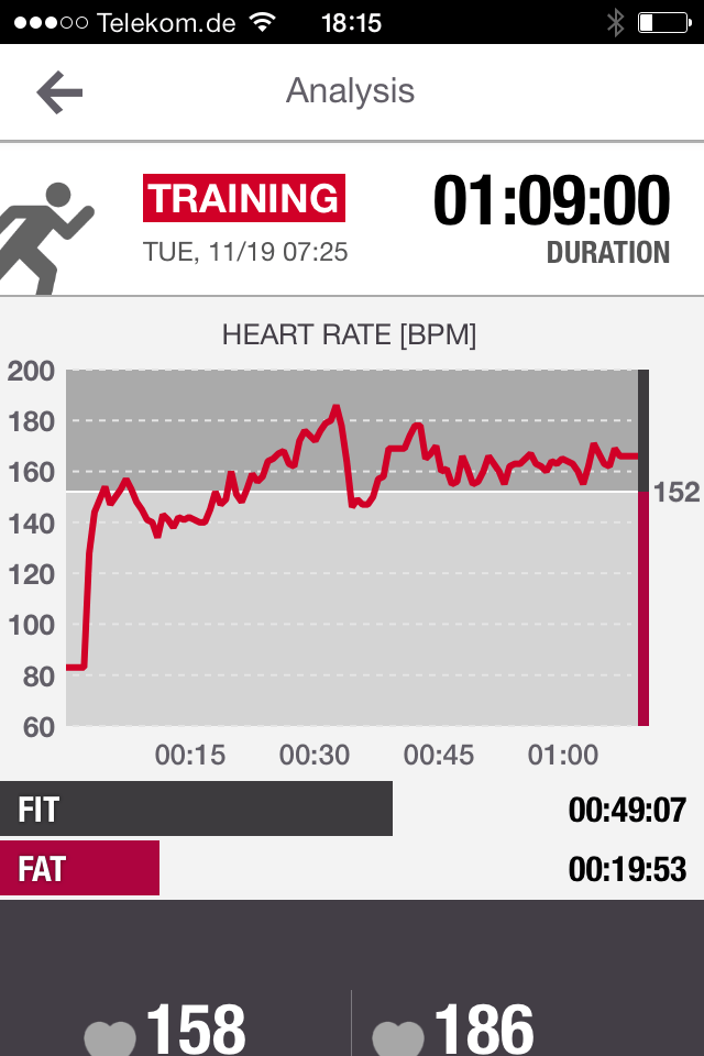 Polar Flow App Trainingsanalyse