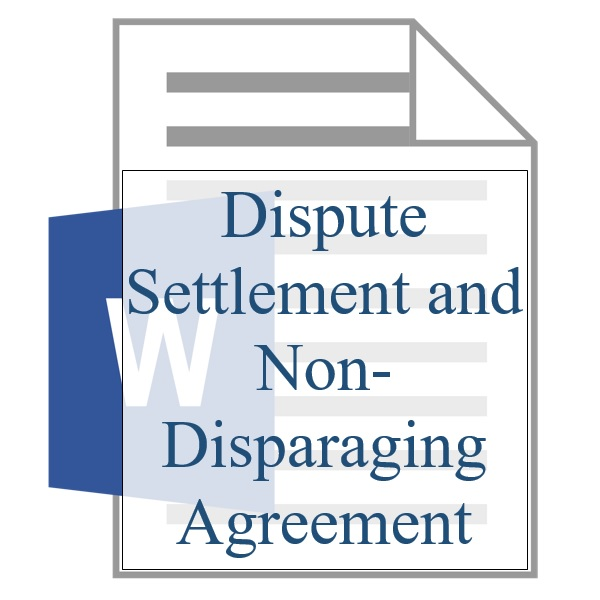 Dispute Settlement And Non Disparaging Agreement Training Property