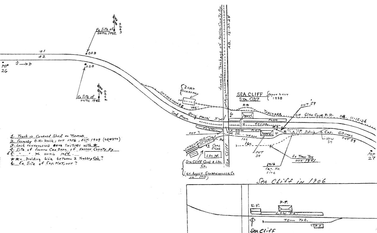 Map Of Sea Cliff Lirr Station