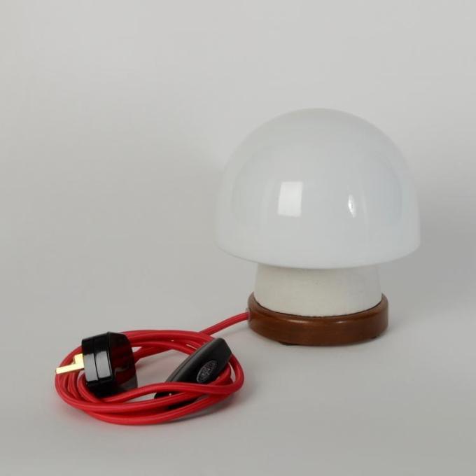 white mushroom desk lamp