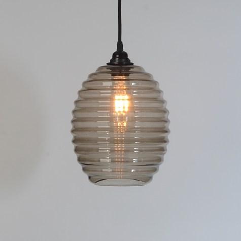 trainspotters lighting beehive smoked glass pendant