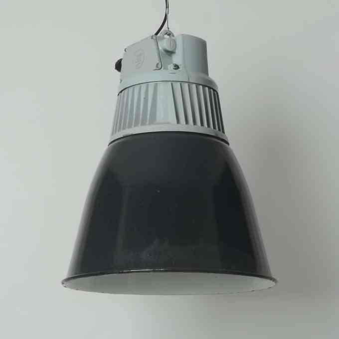 trainspotters lighting vintage flared czech pendant light original condition