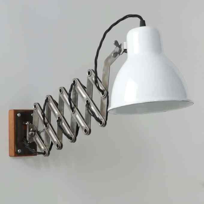 trainspotters lighting vintage communist scissor wall light
