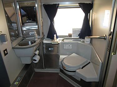 Amtrak Superliner accessible bedroom toilet