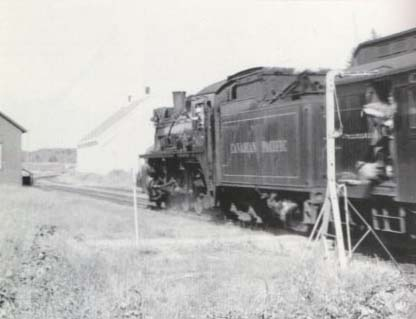 The last mail delivery by train at Coldbrook Nova Scotia