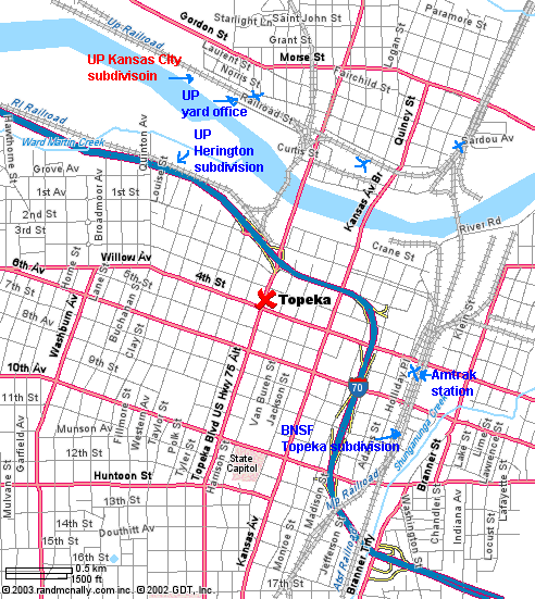 Map Topeka And Surrounding Areas