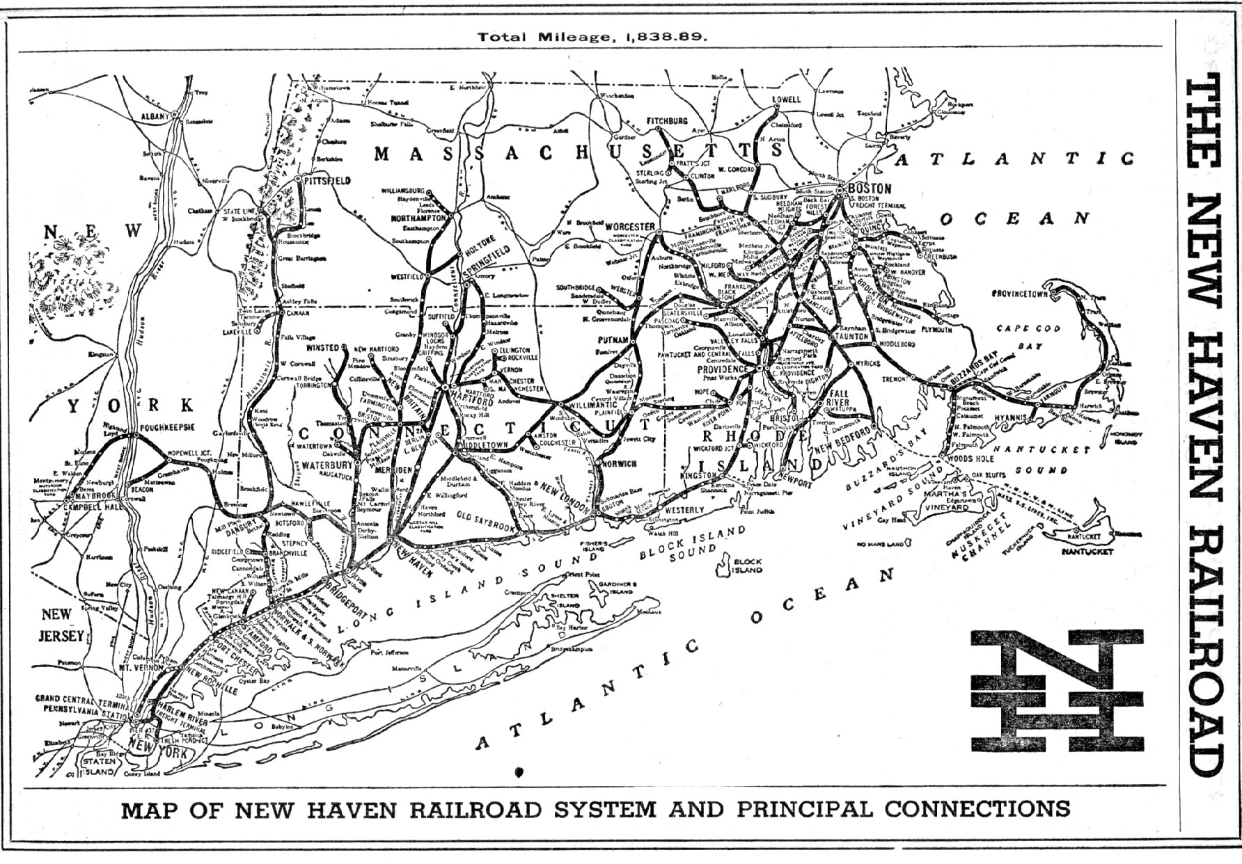 New Haven Railroad, 1956.