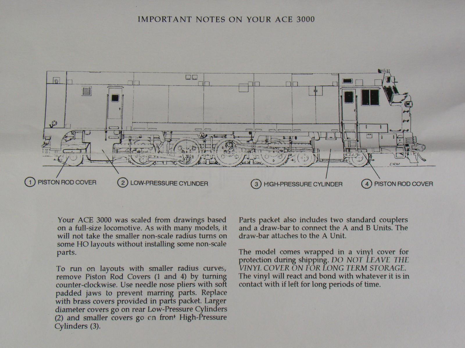 Ace Model Instruction Sheet