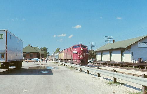 Amtrak Train At Lincoln Station September 1972