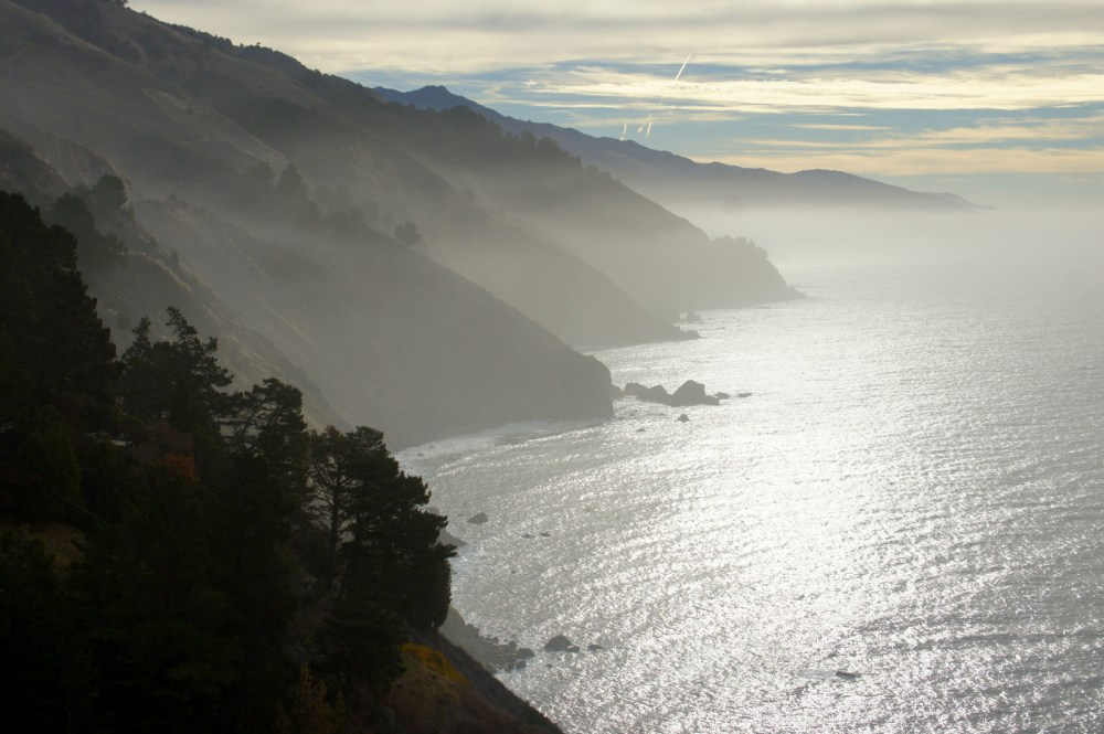 Another morning view from our van in Big Sur.
