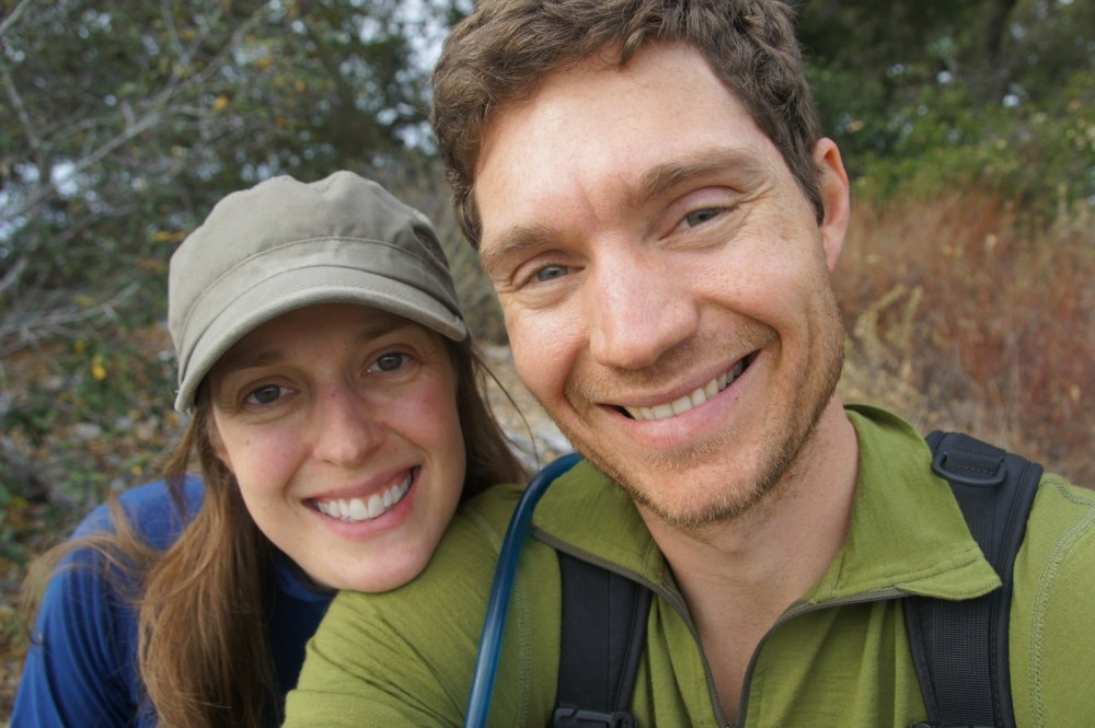 Ten days in Big Sur will make you grin. And forget to shave! (On top of Overlook Trail.)