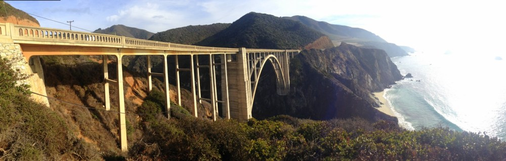 The impressive span at Bixby Canyon Bridge. (Click to view full size, it looks much better!)