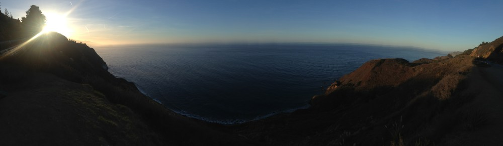 View from our window on Highway 1 this morning.