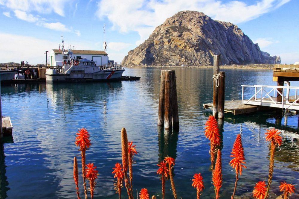 The Morro Bay rock in Central California.