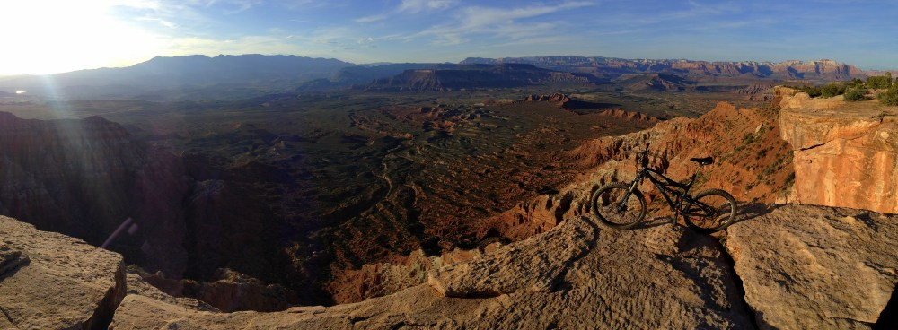 Panorama from the western point of Gooseberry Mesa.