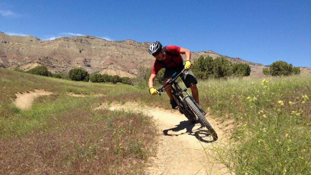 Pretending I know how to ride in Fruita, Colorado. GO here.