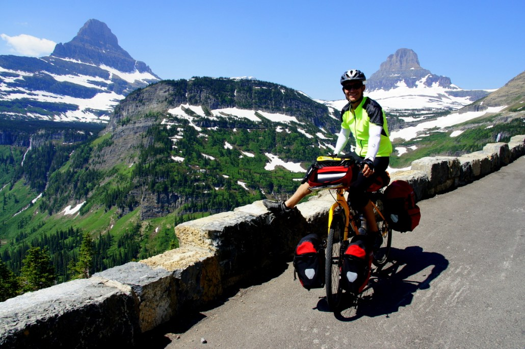 Can't get enough of Going-to-the-Sun Road. Here I am heading off the east side of the pass.