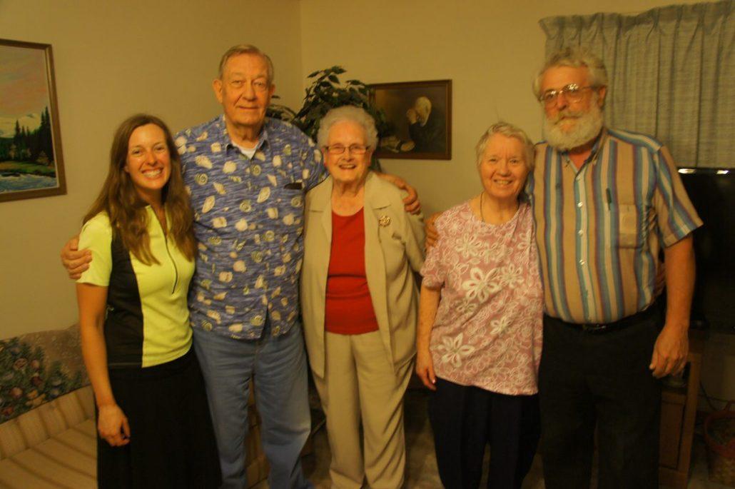 Chelsea, Ken, Mary, Wanda and friend in Henderson.