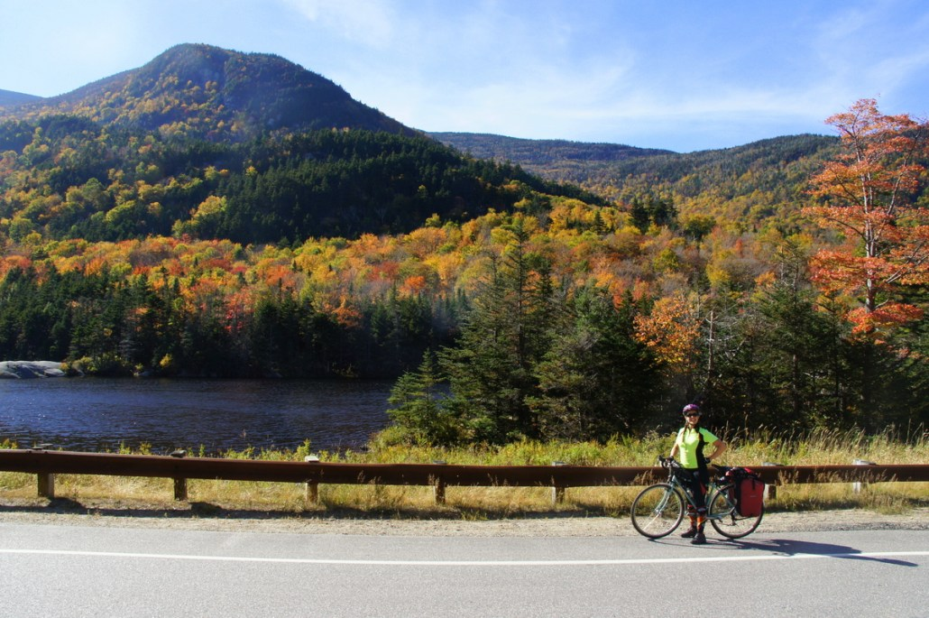 A great vista at the top of a pass in the White Mountains.