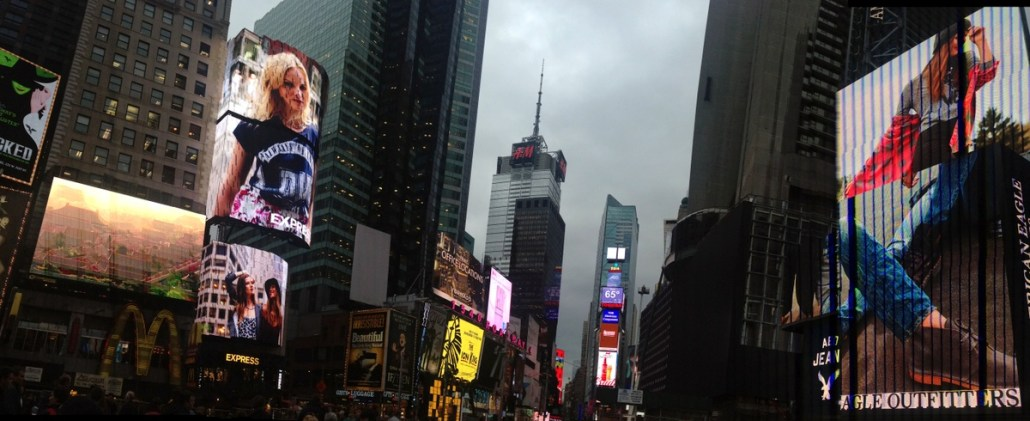 Times Square and its insane advertising barrage.