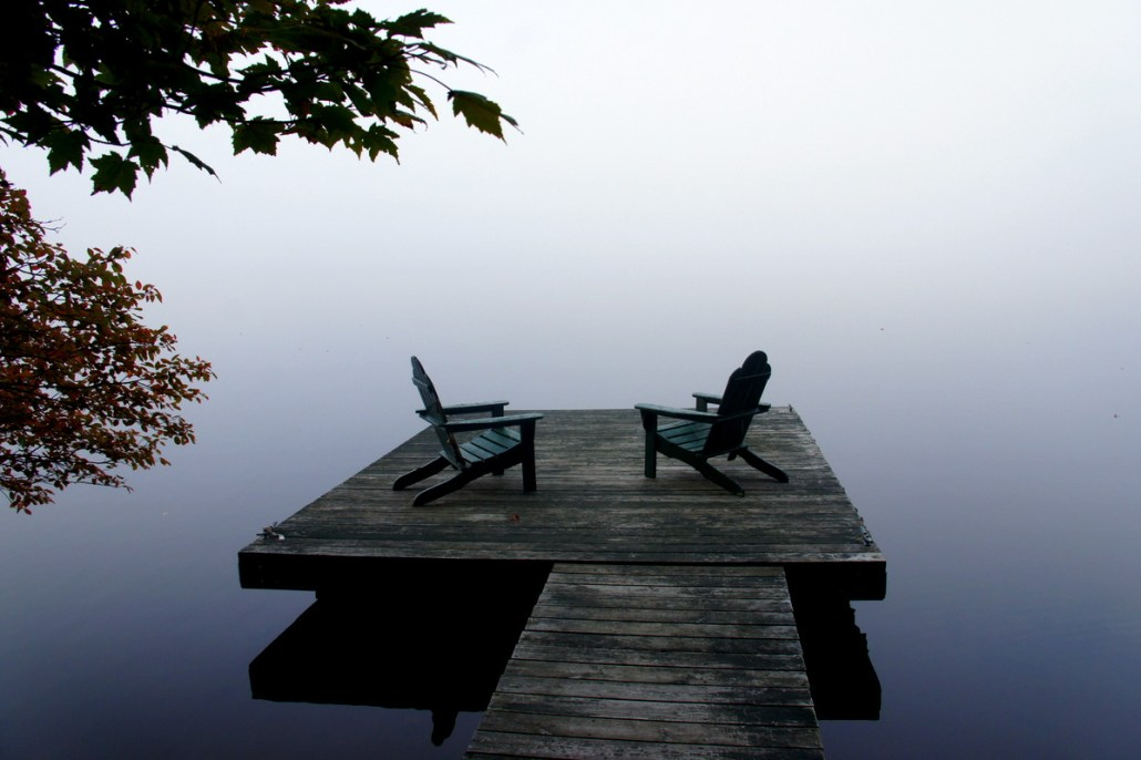 Empty chairs in the Adirondacks