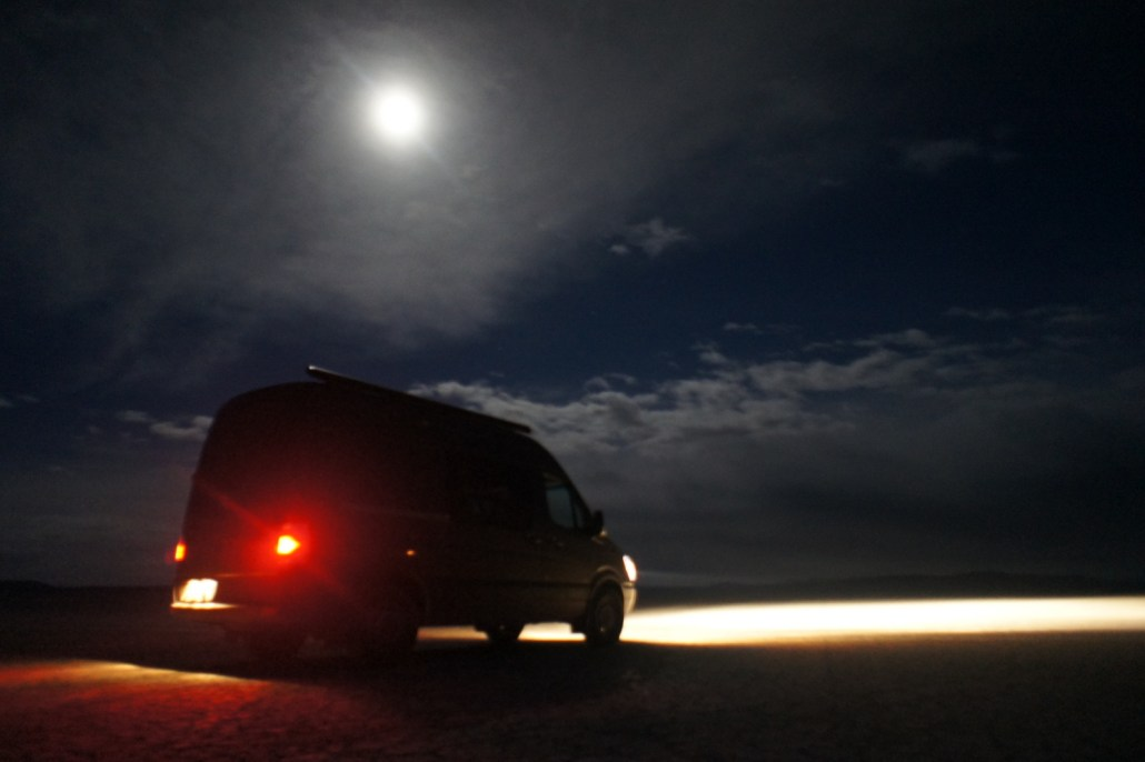 Full moon on the Alvord Desert.