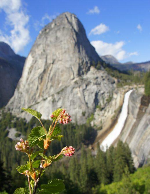 Liberty Cap and Nevada Falls in Yosemite.