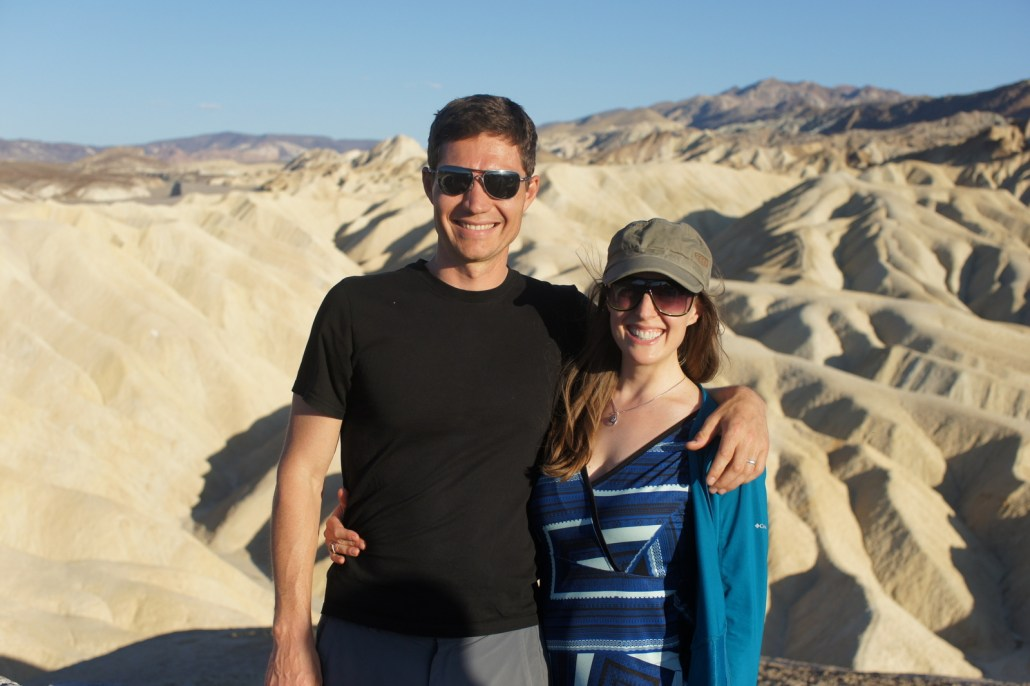 Grinning it up in Death Valley.