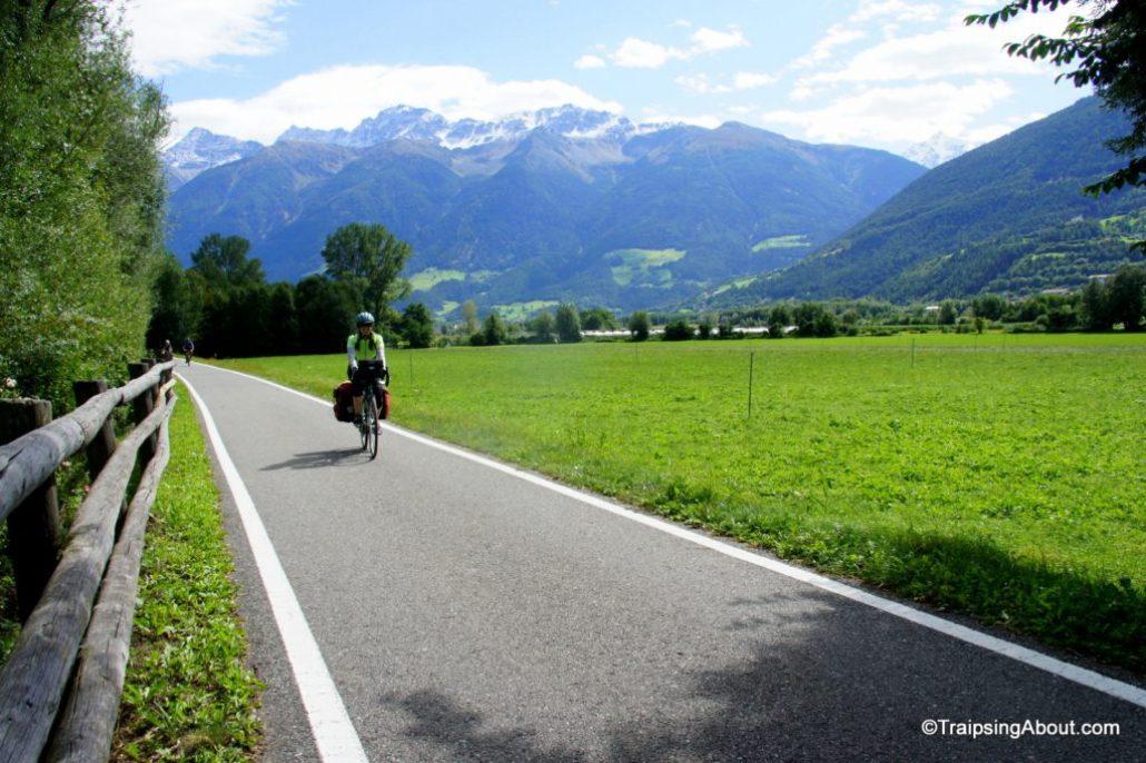 A perfect bike path through Sudtirol.