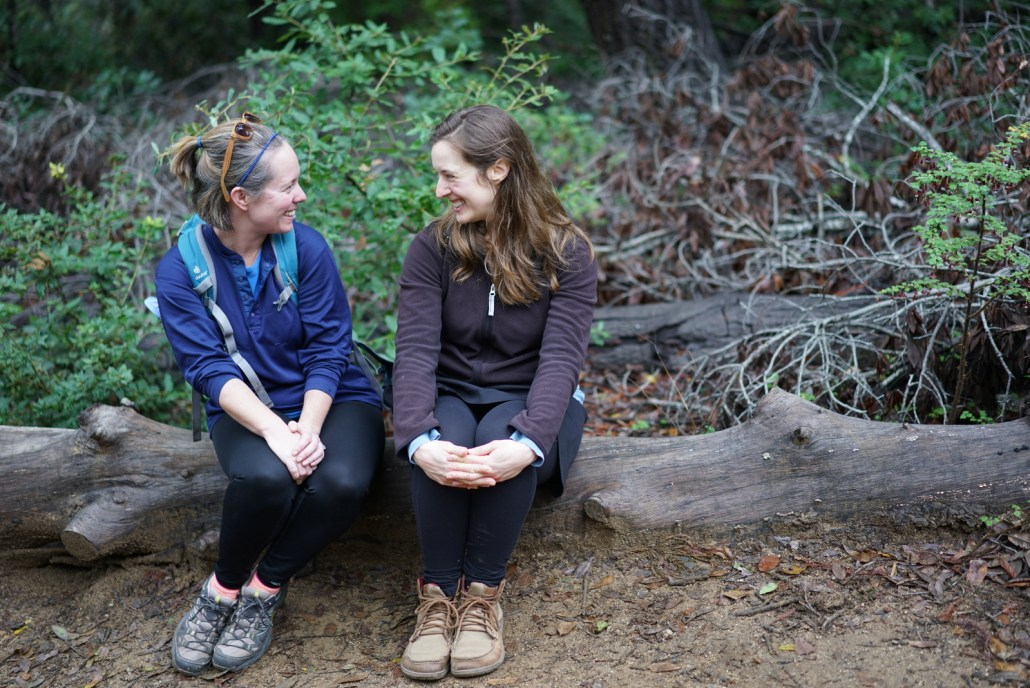 Chelsea and Kristen hanging during a hike at Big Sur.