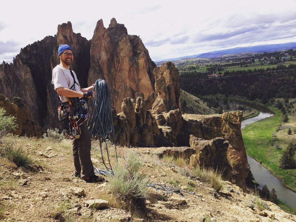 Martin at the top of Smith Rock.
