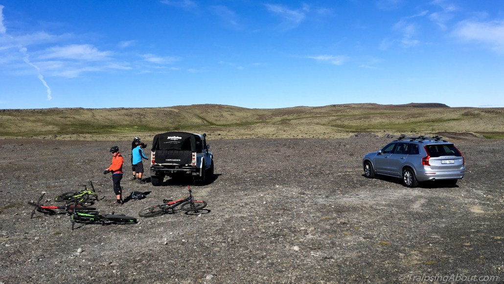 "As our guide quipped, ""busy day at the trailhead!"" Iceland's MTB scene is still developing."
