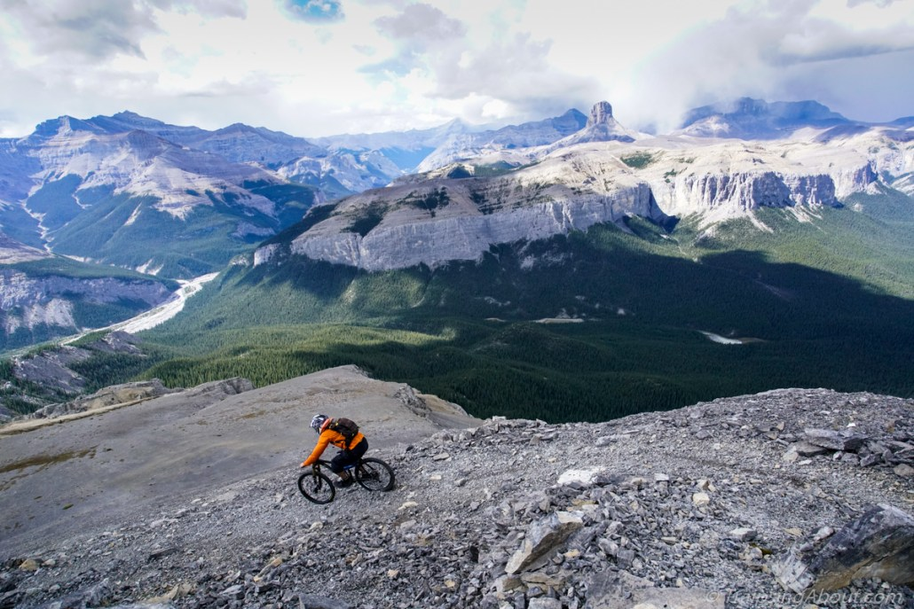 No time to think about Instagram or email riding terrain like this. (Black Rock Mtn, Alberta)