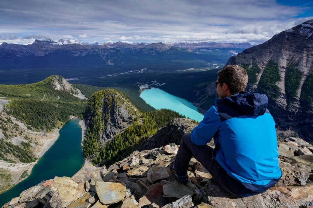 Your house will be fine! Enjoy vistas like this one over Lake Louise in the meantime... (Shot from the Devil's Thumb.)