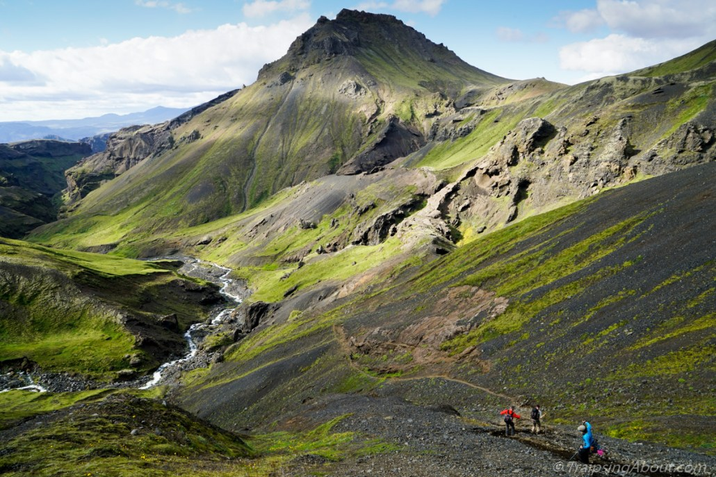 Loving a tech-free day in the highlands of Iceland.