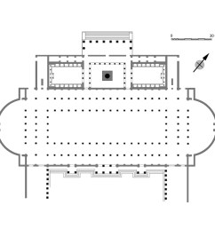 plan of the northwest side of the forum of trajan the column stood in a [ 1050 x 817 Pixel ]