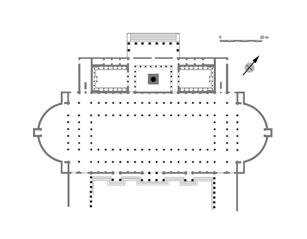 medium resolution of plan of the northwest side of the forum of trajan the column stood in a