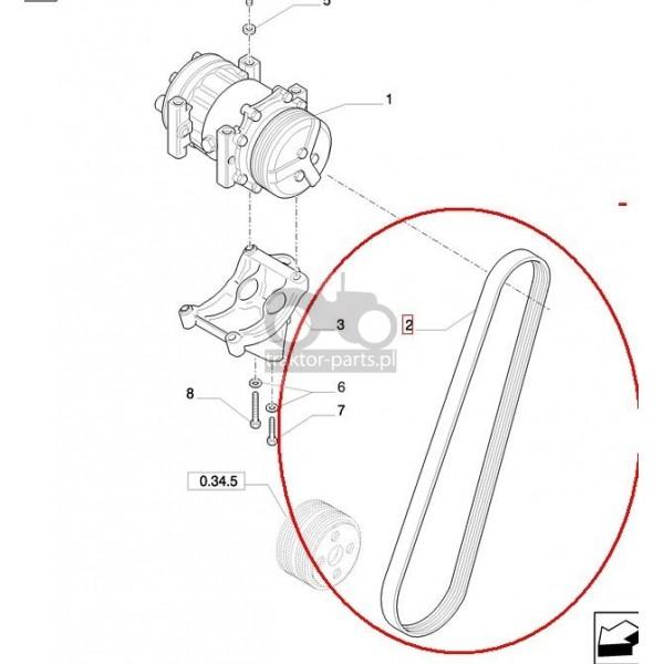 2080-UC15 Pasek wielorowkowy 4PK Case JX,87399980Case