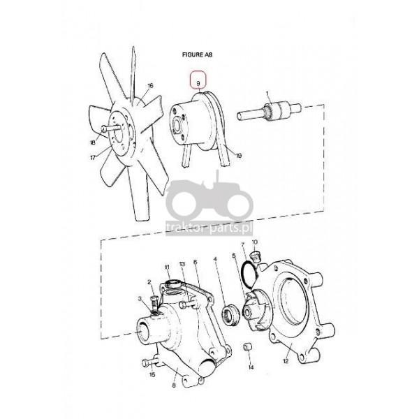 2080-UC19 Pasek klinowy wentylatora Case,David Brown,Case