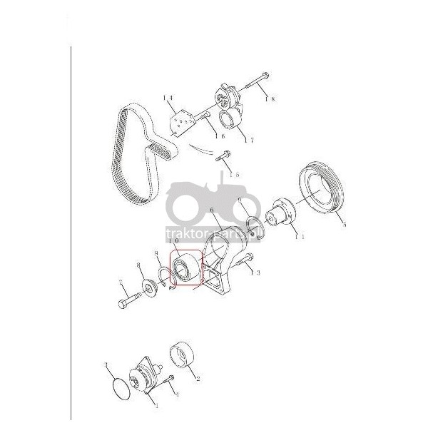 2080-UC43 Łożysko korpusu wentylatora Case 5130,5140,5150