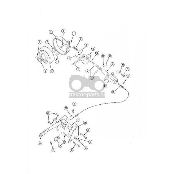 2014-HA59 Opaska hamulca Case 1971050C1 , 401992R3 ,Case