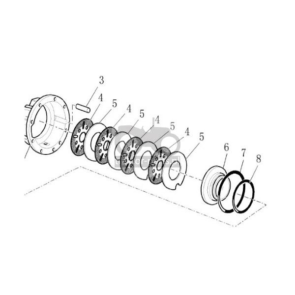 2014-HA93 Oring cylindra hamulcowego Case,2385264