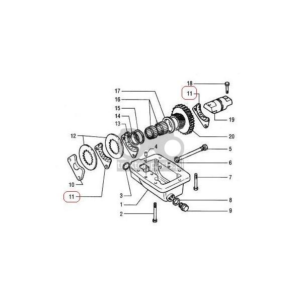 2014-HA105 Klocek hamulcowy skrajny 3,3mm ,5118095