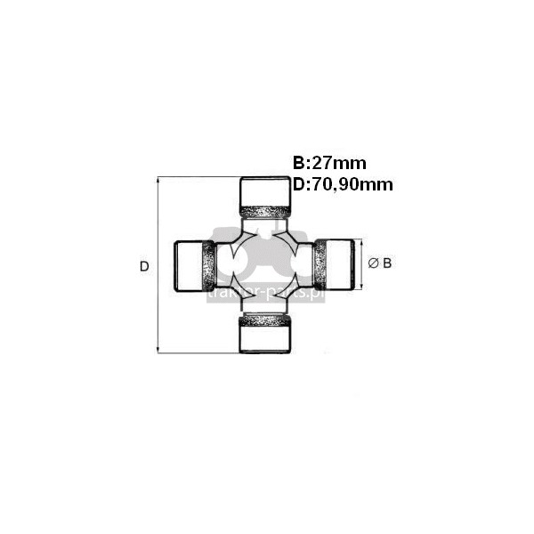 2016-ON154 Krzyżak 27x70.90mm,195215A1, 144465A1, 85807283