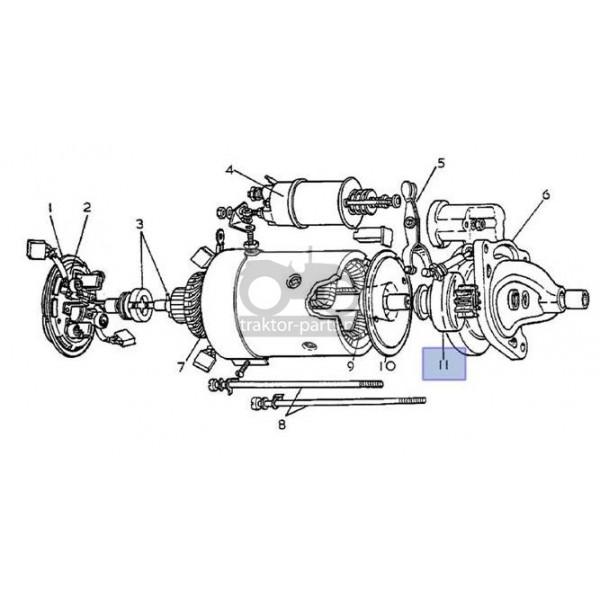 2021-EL30 Bendix rozrusznika Z-10 Case,1052441M91