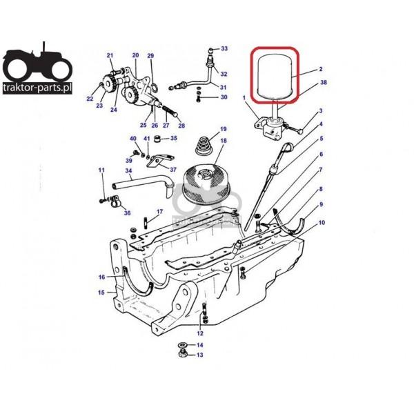 3030-FO35 Filtr oleju silnikaMassey Ferguson Filtry
